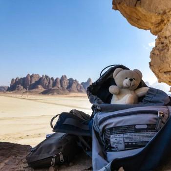 Eisi in der Wüste Wadi Rum