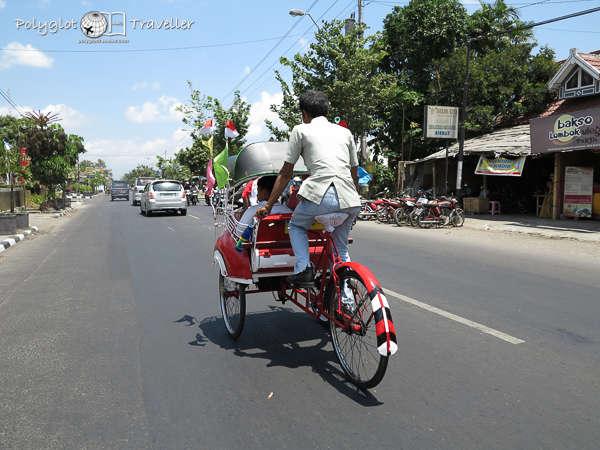 Rikschafahrer in Yogya