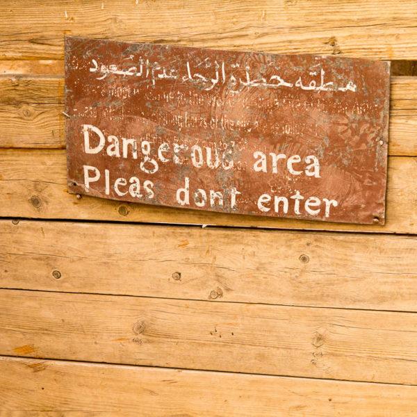 Warnung - Gefährliches Gebiet
