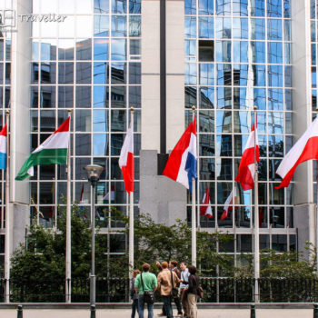 National flags in Brussels