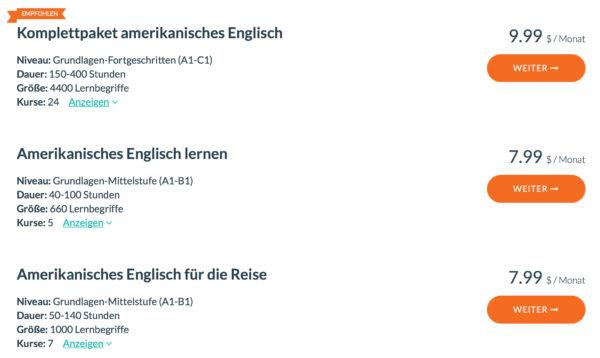WordDive Amerikanisches Englisch