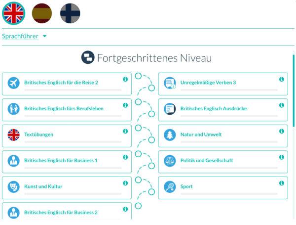 WordDive Inhalte Englischkurs