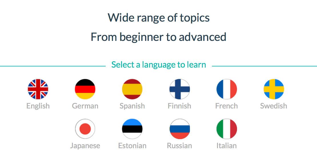 WordDive languages